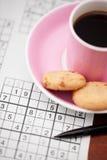 kaffesudoku Fotografering för Bildbyråer