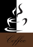 kaffesymbol Arkivfoton