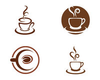 Kaffesymbol Logo Template Royaltyfri Bild