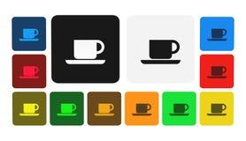 Kaffesymbol, tecken, illustration Royaltyfri Fotografi