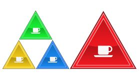 Kaffesymbol, tecken, illustration Royaltyfri Bild
