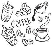 Kaffesymbol stock illustrationer