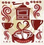 kaffesymboler Arkivbild
