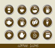 Kaffesymboler Royaltyfri Foto