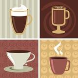 Kaffesymboler/inställd logo - 2 Arkivbilder