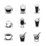 Kaffesymbolsuppsättning Arkivbilder