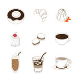 Kaffesymbolsuppsättning Royaltyfri Bild