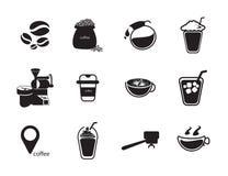 Kaffesymbolsuppsättning Royaltyfri Fotografi