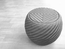 Kaffetabell i svartvitt Fotografering för Bildbyråer
