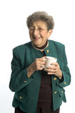 kaffeteakvinna Arkivfoton