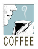 kaffetecken Arkivbilder
