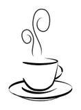 kaffeteckningen rånar vektorn vektor illustrationer