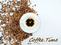 kaffetid Arkivfoton