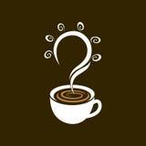 Kaffetid får den bra idén, vektordesign stock illustrationer
