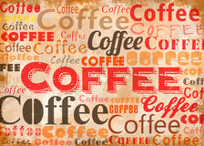 KaffeTypoCollage Stock Illustrationer