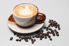 kaffeuppsättning för menybakgrund Royaltyfri Bild