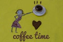 Kaffevänner Royaltyfri Fotografi