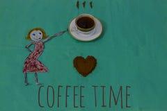 Kaffevänner Arkivbild