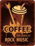 Kaffevänner av vaggar musik royaltyfri illustrationer