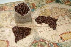 kaffevärld Arkivfoton