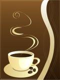 kaffevektor Royaltyfria Bilder