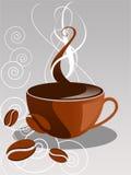 kaffevektor Arkivfoton
