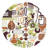 Kaffevektorillustration royaltyfri illustrationer