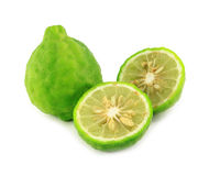 Kaffir lime. On white background Royalty Free Stock Photos