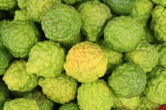 Kaffir Lime. Background in market stock photography