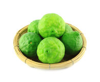 Kaffir lime in basket Royalty Free Stock Photos