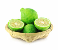 Kaffir lime in basket Royalty Free Stock Photo