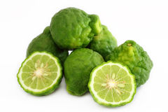 Kaffir Lime or bergamot. Kaffir Lime is herb for health and beauty stock photography