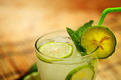 Kaffir lime, Bergamot soda Cool drink, Herb for Treatment of Acid Reflux. Stock Photography