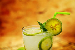 Kaffir lime, Bergamot soda Cool drink, Herb for Treatment of Acid Reflux. Royalty Free Stock Photo