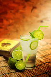 Kaffir lime, Bergamot soda Cool drink, Herb for Treatment of Acid Reflux. Stock Photos