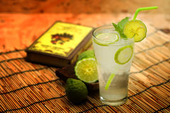 Kaffir lime, Bergamot soda Cool drink, Herb for Treatment of Acid Reflux. Royalty Free Stock Images