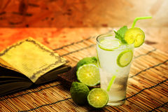 Kaffir lime, Bergamot soda Cool drink, Herb for Treatment of Acid Reflux. Stock Image