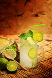Kaffir lime, Bergamot soda Cool drink, Herb for Treatment of Acid Reflux. Royalty Free Stock Photography