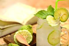 Kaffir lime, Bergamot soda Cool drink, Herb for Treatment of Acid Reflux. Stock Images