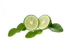 Kaffir lime cut Stock Photo