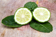 Kaffir lime fresh and leaf Stock Photo