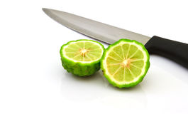 Kaffir Lime fruits isolated on white Royalty Free Stock Image