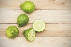 Kaffir lime herbs fresh Stock Photos