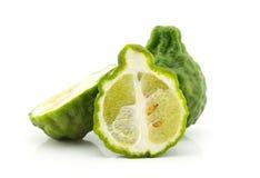 Kaffir lime isolate on white background. Kaffir lime slice isolate on white background Stock Images