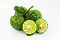 Kaffir lime. Isolated on white background Stock Photography