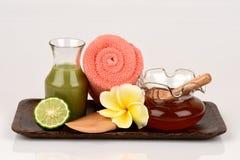 Kaffir lime, Leech lime, Mauritius papeda and honey fruits, juice , Medicinal and hair. Stock Photography