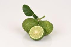 Kaffir lime, Leech lime, Mauritius papeda, , Medicinal and hair. Royalty Free Stock Photos