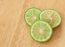 Kaffir lime slice Stock Image