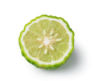 Kaffir lime slice isolated on white background Stock Photography