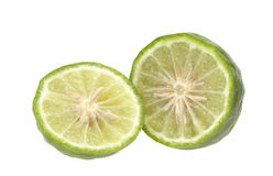 Kaffir Lime. On white background Stock Images